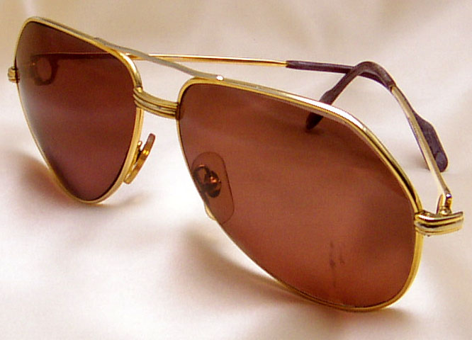 fb716b38c4cc Mens Cartier Aviator Sunglasses